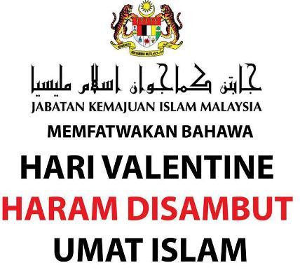 artikel umat islam haram sambut valentine