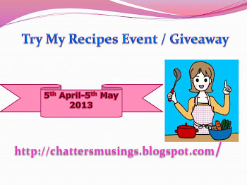 Try my recipes event/Giveaway