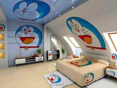 Desain Kamar tidur Doraemon