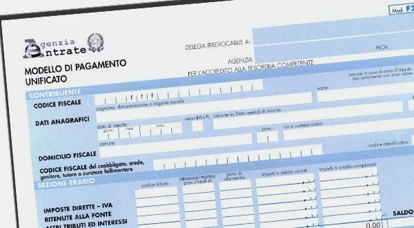 Imposte diritti for F24 elide istruzioni