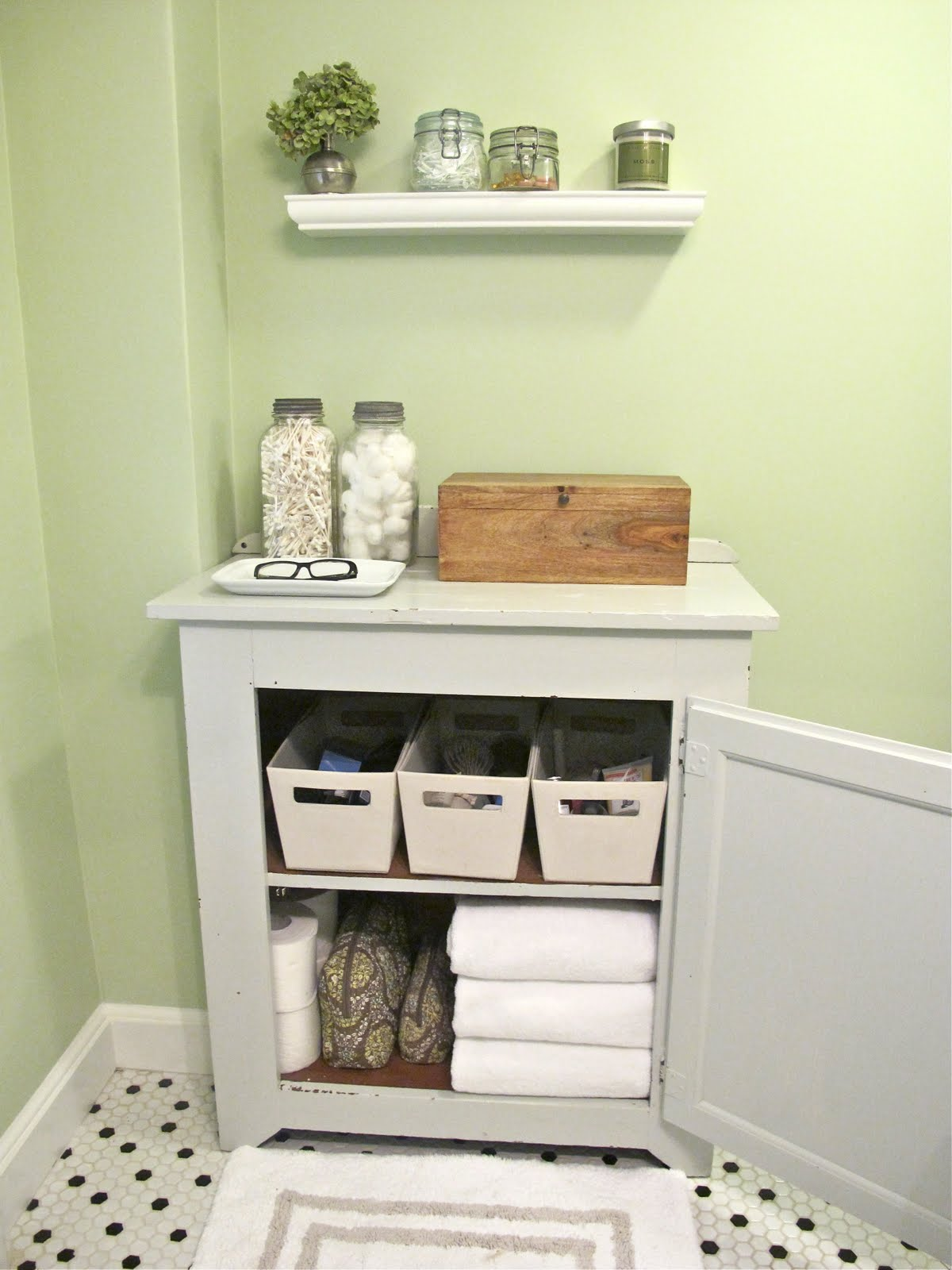 Jenny Steffens Hobick Bathroom Redo Pinterest Challenge Inspiration For Adding Storage To A