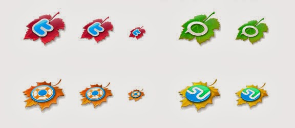The Leaves Fall Icon Set