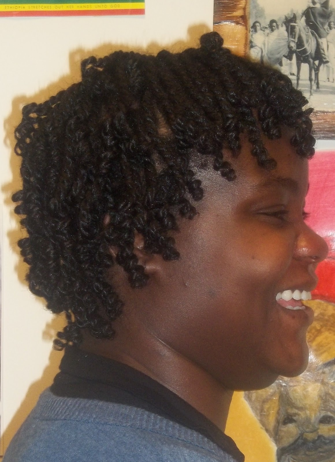 Love of Locs Two Strand Twist Hairstyles back and side