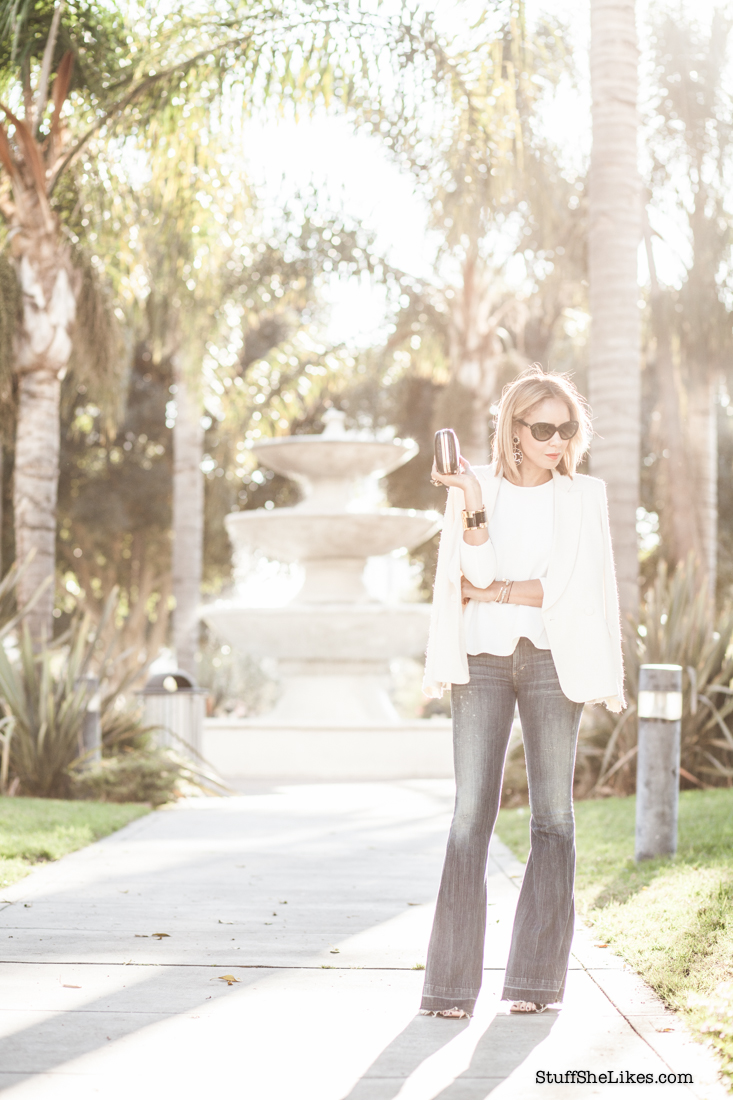 flare jeans, denim, citizens of humanity, fashion blogger, white blazer, best fashion blogger, Los Angekes fashion blogger, top 10 fashion bloggers