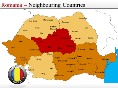 Map of Romania Country and City