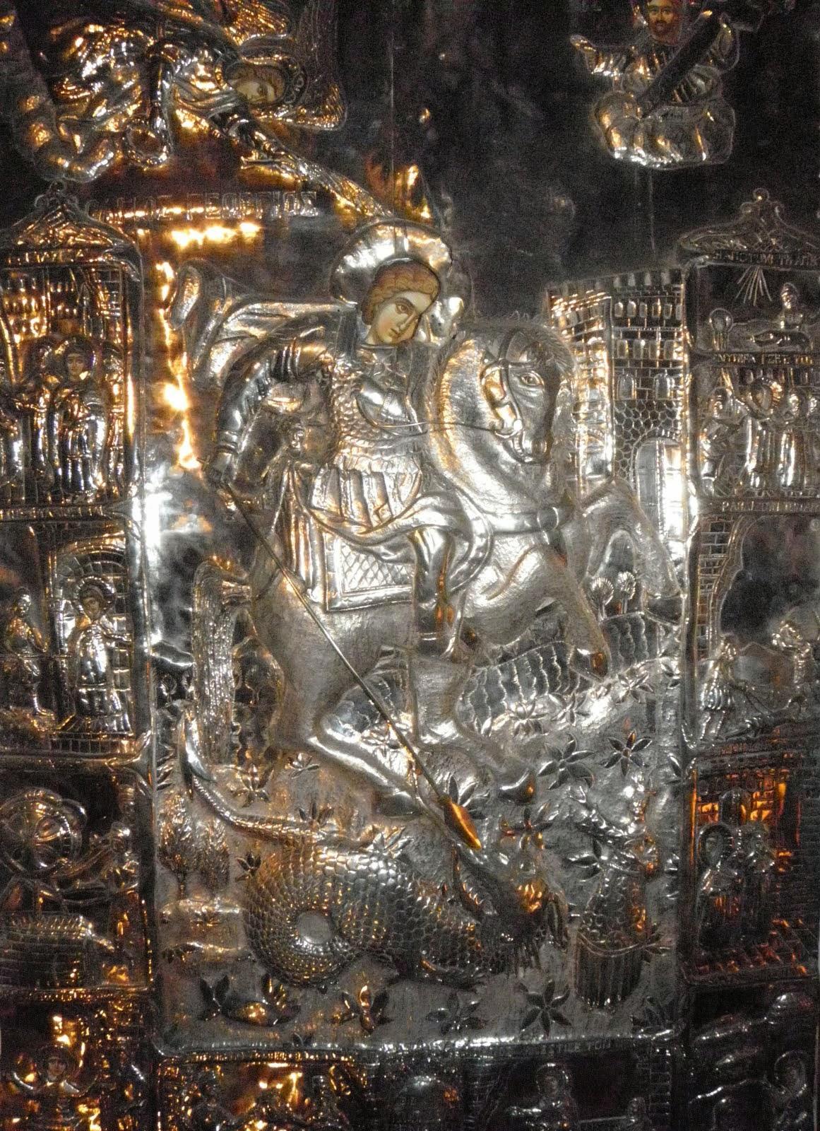 † Άγιε ένδοξε Μεγαλομάρτυς του Χριστού Γεώργιε πρέσβευε υπέρ ημών