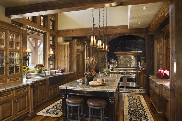 Muebles y decoraci n de interiores cocinas r sticas alemanas for Rustic chic kitchen ideas