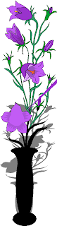 Blue Flowers in a Vase Free Clipart