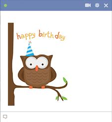Birthday Owl Icon