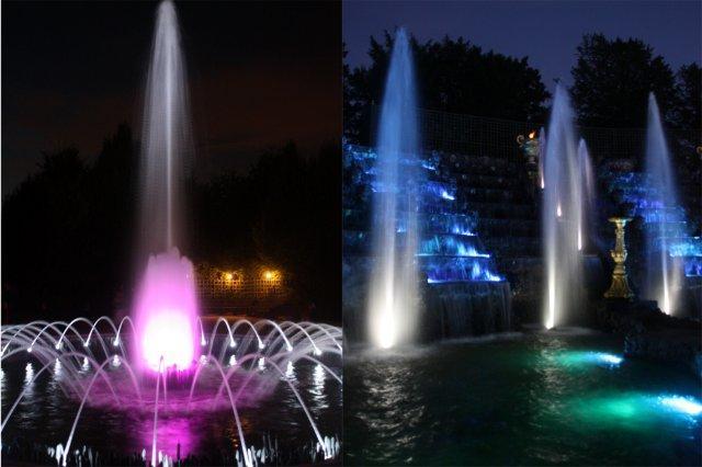 Espectaculo Les Grandes Eaux Nocturnes – Las Fuentes Nocturnas en el Palacio de Versalles, Francia