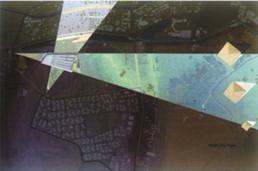 رسم توضيحي يُبيّن الموقع العام للمتحف المصري الكبير ويظهر فيها عرض للفكرة التصميمة لعمارة المتحف