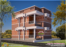 Simple And Elegant Flat Roof Home - Kerala
