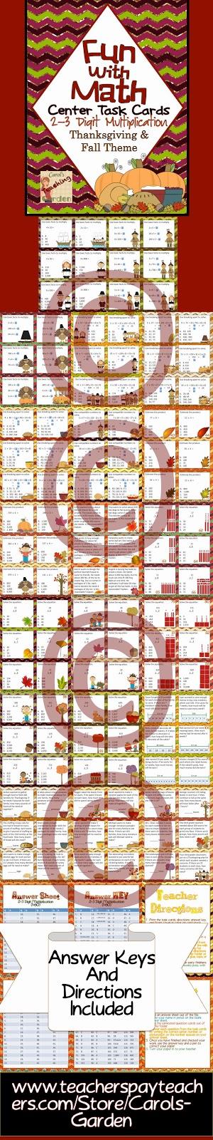 http://www.teacherspayteachers.com/Product/Fun-With-Math-Center-Task-Cards-2-3-Digit-Multiplication-937598