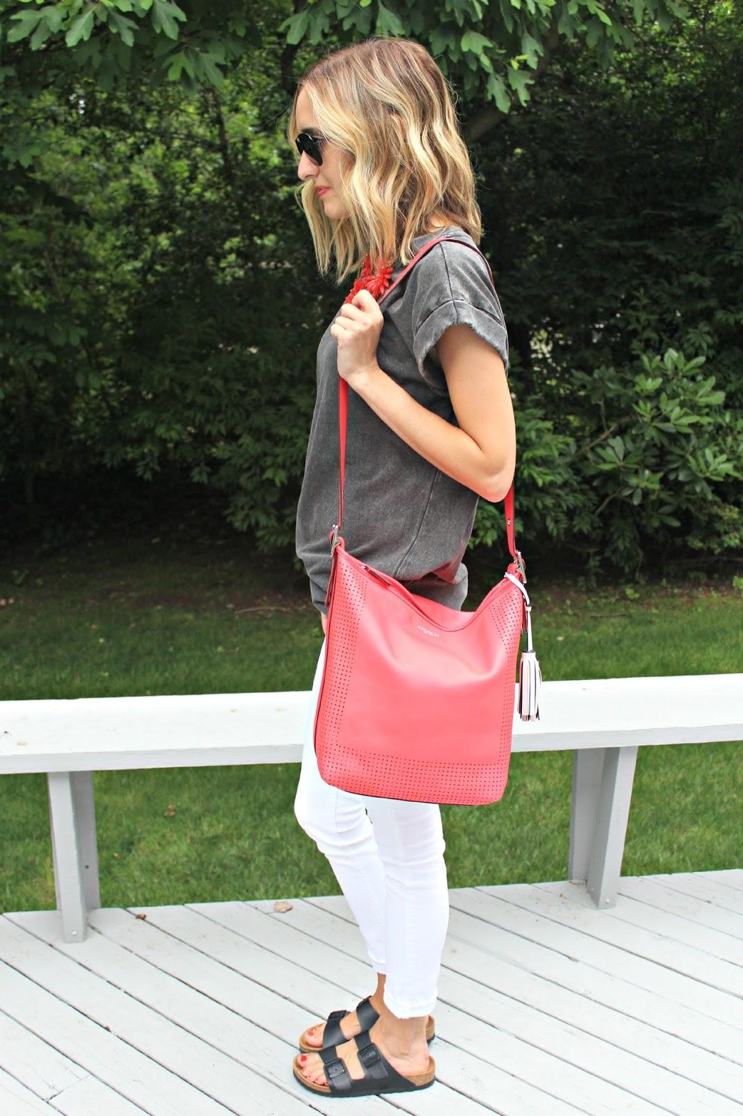 coach legacy bag in watermelon