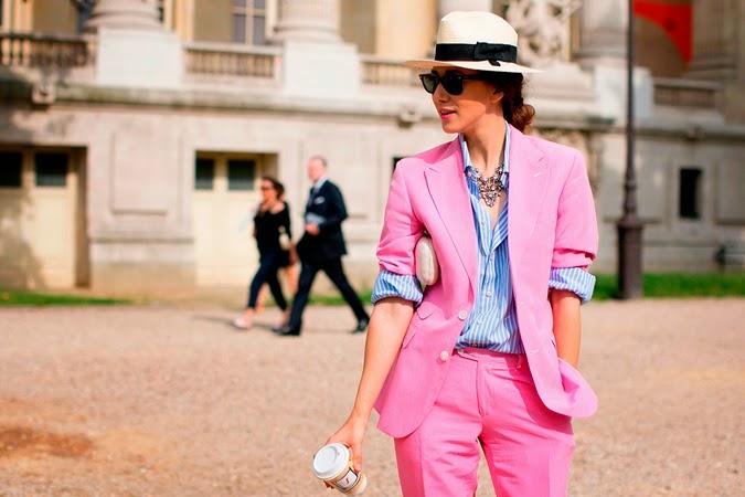 Inspiración rosa street style