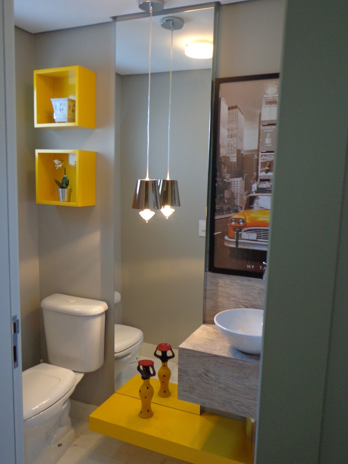 Noivos em Apuros: Sweet Home: Amarelo seu lindo #3 Banheiro #BA8604 1200x1600 Banheiro Com Detalhes Em Amarelo