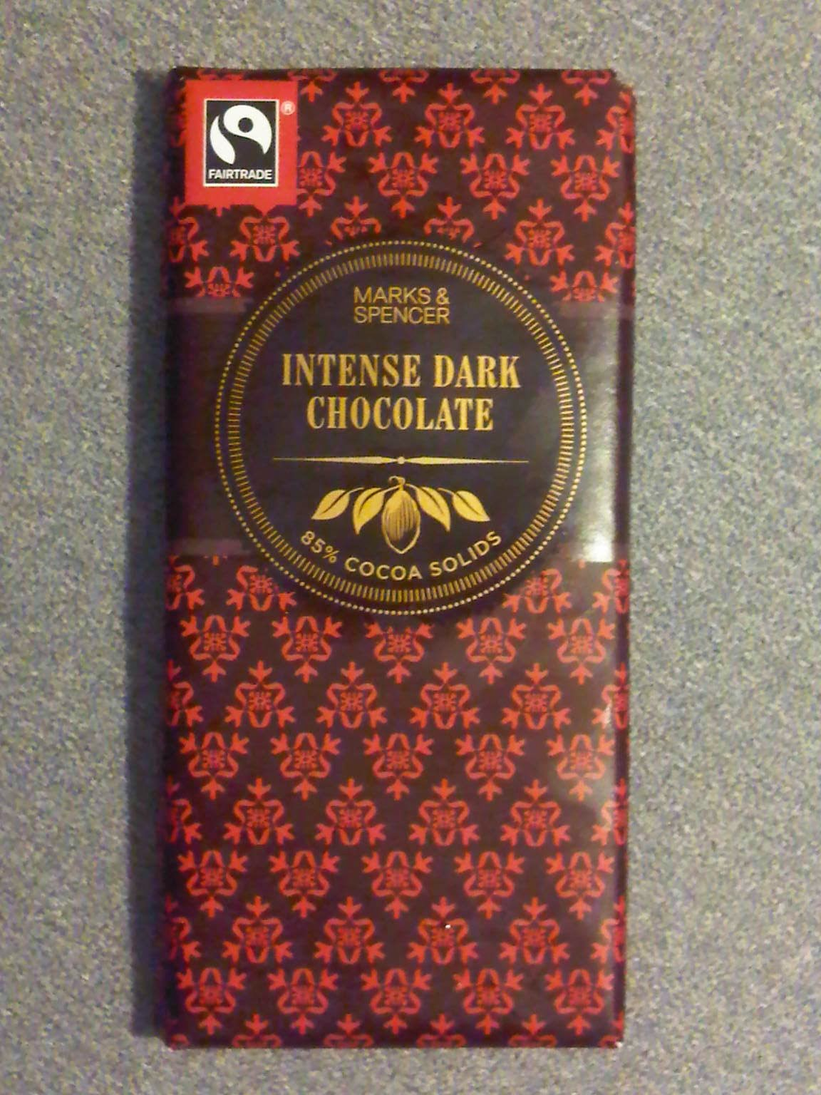 Regins realm chocolate review marks and spencer intense dark the packaging for marks spencer intense dark chocolate is like a gift wrap negle Image collections