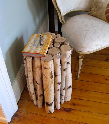 DIY side table branches