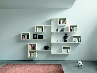 25 modernos estantes para organizar tu casa decorando mejor - Estantes para pared ...