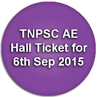 Tamil Nadu Assistant Engineer Civil Hall Ticket 2015 tnpsc.gov.in
