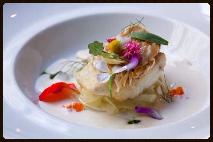 Sophisticated Savories: Chilean sea bass with cucumber noodles and horseradish sauce700 x 467 jpeg 42kB