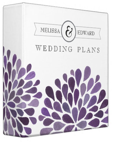 http://www.zazzle.com/purple_watercolor_dahlias_wedding_planner_binder-127446636237196512?rf=238845468403532898