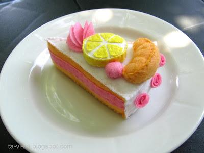торт из фетра