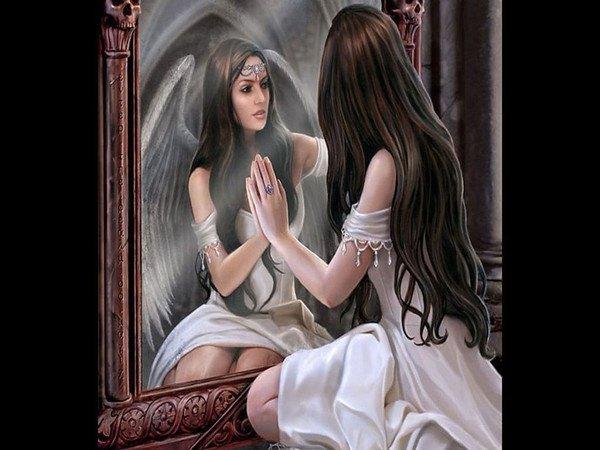 L 39 eveil en soi l 39 effet miroir la loi de r sonnance for Pics de chicks dans l miroir