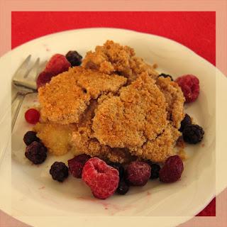 recette du crumble à la farine de châtaignes