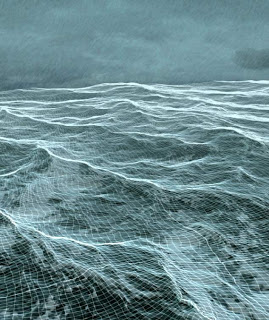 ocean wireframe preview from my CG/VFX reel 2013