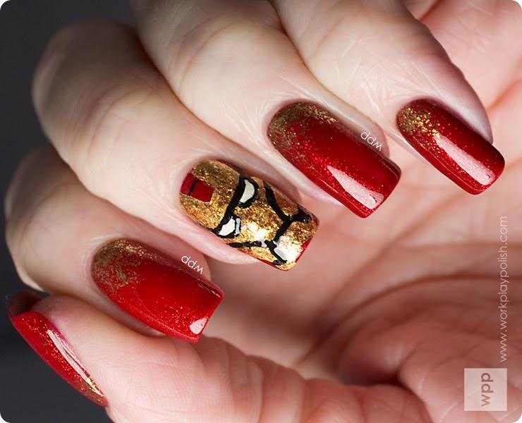 uñas decoradas de rojo 2016