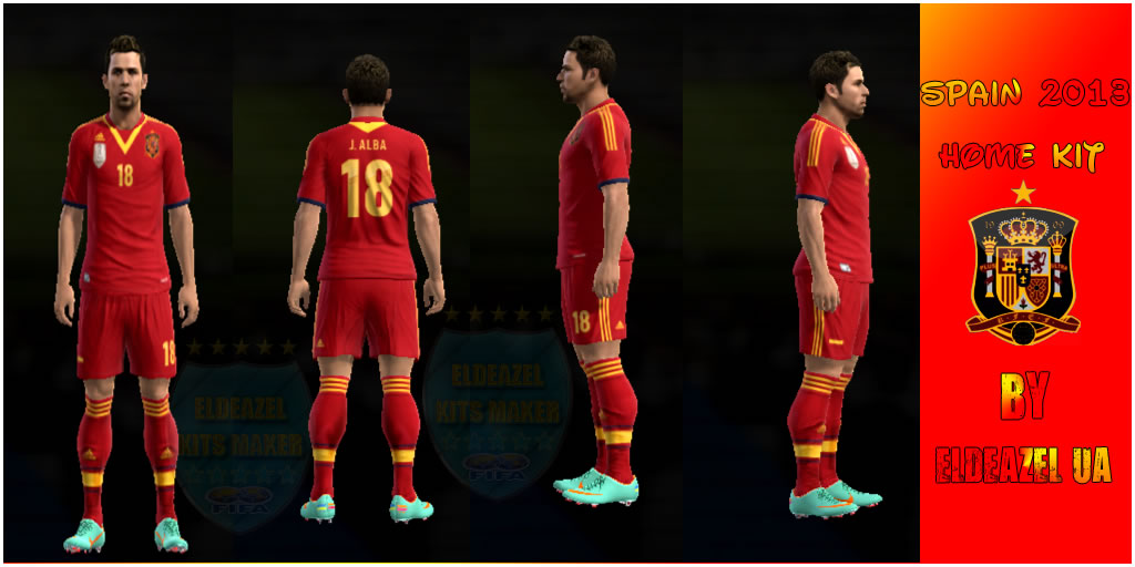 KIT HOME SPAIN CONFEDERATIONS CUP