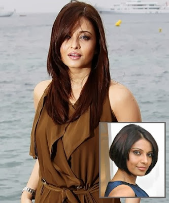 Aishwarya and Bipasha Basu's Hairstyle Pics