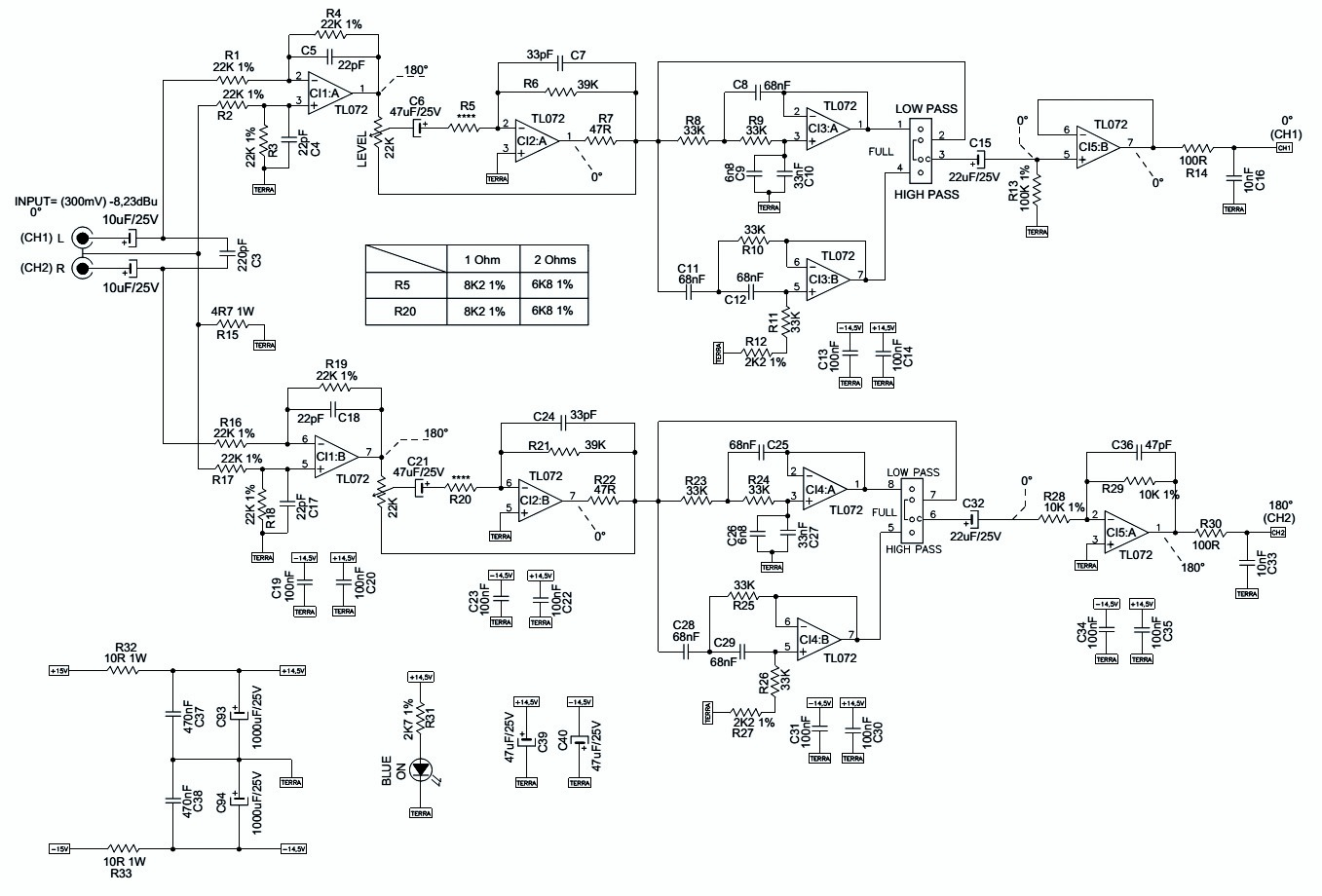 Irs2092 Amplifier Schematic Class D Circuit Lm1036 Tone Controlled Power