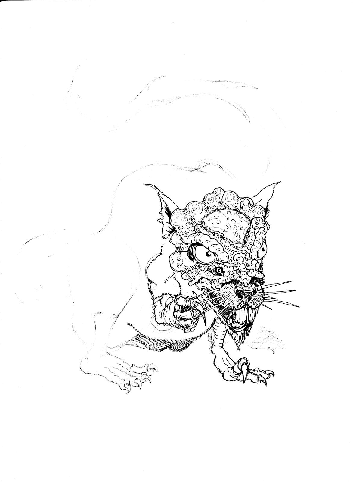 Hesaki Rat WIP by Del Teigeler, Mavfire