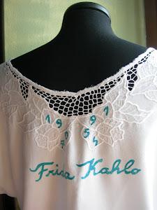 """la schiena della mia """"Frida"""" camicetta dipinta a mano (2001)"""