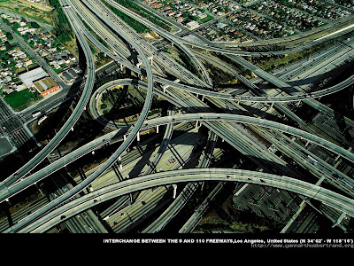 Interchange between 5 and 110 Freeways , Los Angeles , United States