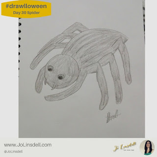 #Drawlloween Day 30 Spider #Drawing #challenge