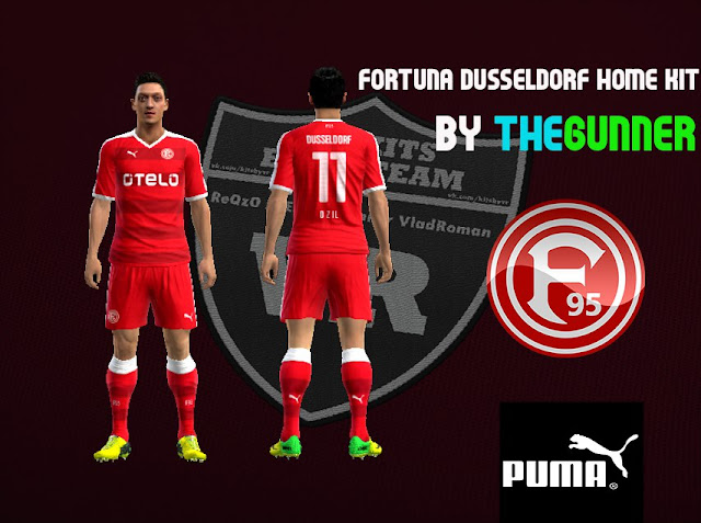 PES 2013 Fortuna Dusseldorf 15/16 Home kit by TheGunner