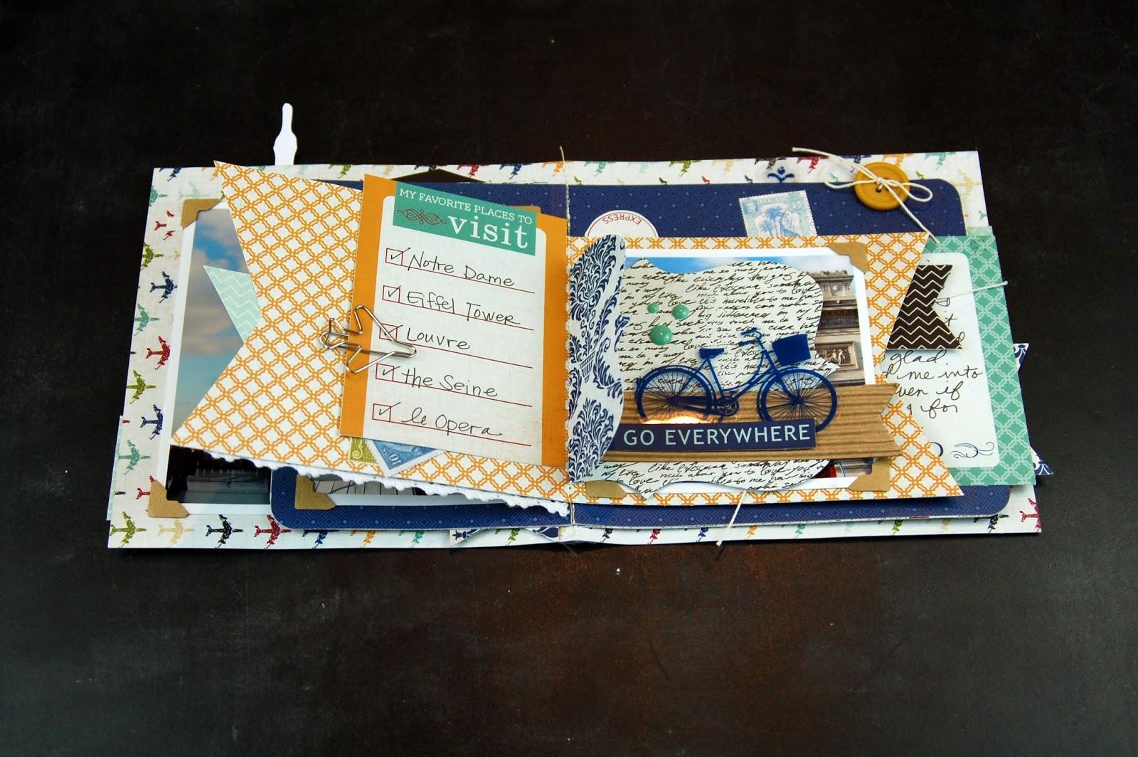 How to scrapbook a mini album - A Machine Stitched Travel Scrapbooking Album