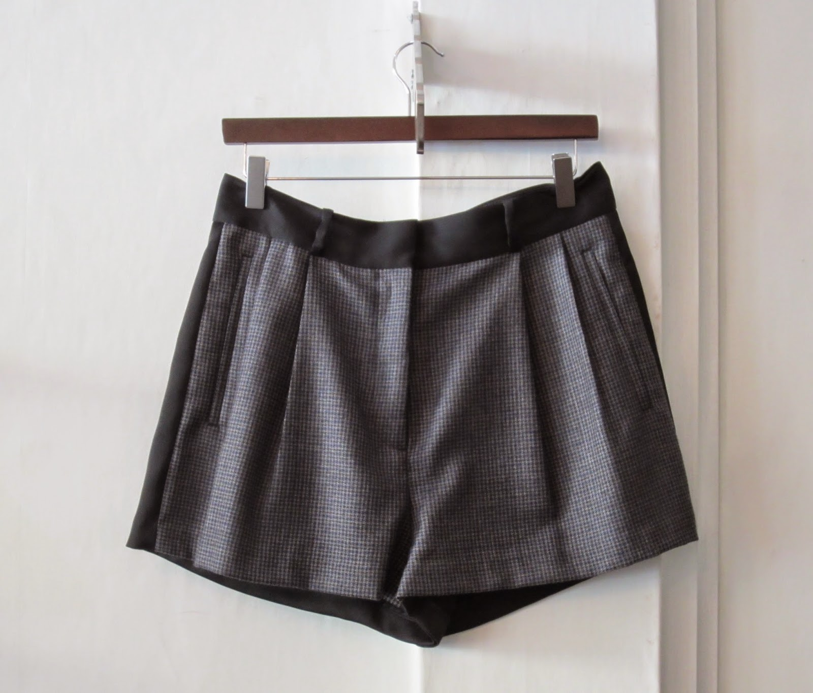 By Malene Birger Grey & Black Checked Shorts