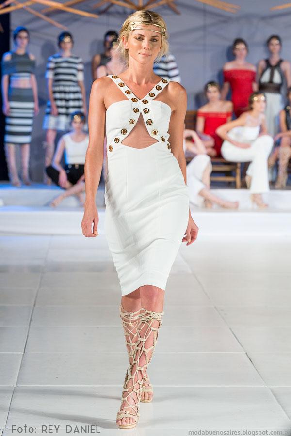 DOT by Laurencio Adot primavera verano 2016 vestidos. Moda primavera verano 2016.