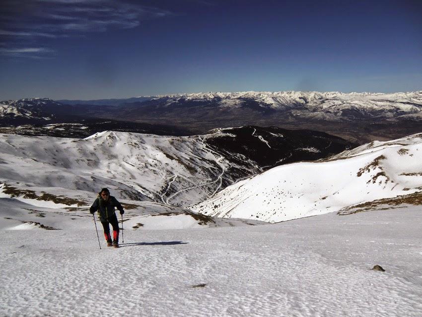 Última subida hasta la cima del Pico Puigmal.