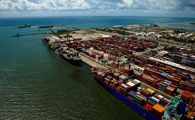 porto de suape, port of suape, pernambuco, navios, mar