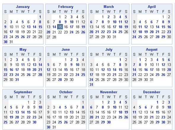 calendrier facebook anniversaire