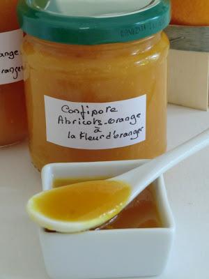 Confipote d'abricots-orange à la fleur d'oranger