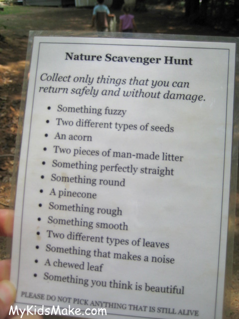 At MY KIDS MAKE The talented blogger has created a great nature scavenger  hunt that would be fun to do in your backyard! It could be just one of the  many ... - June Family Challenge: Go On A Backyard Family Campout Play With