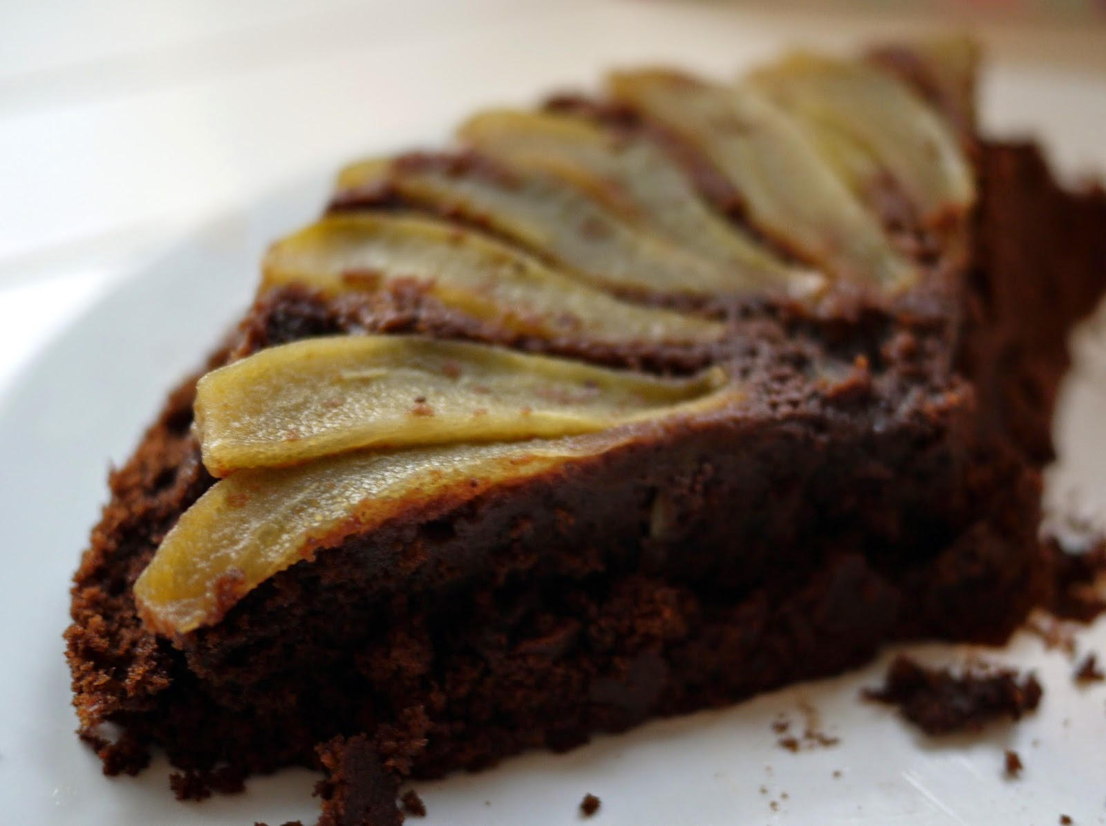 Pear almond chocolate cake recipe