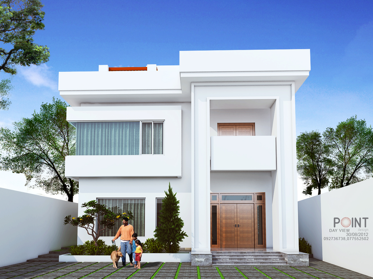 Khmer architect now for Modern house front view design