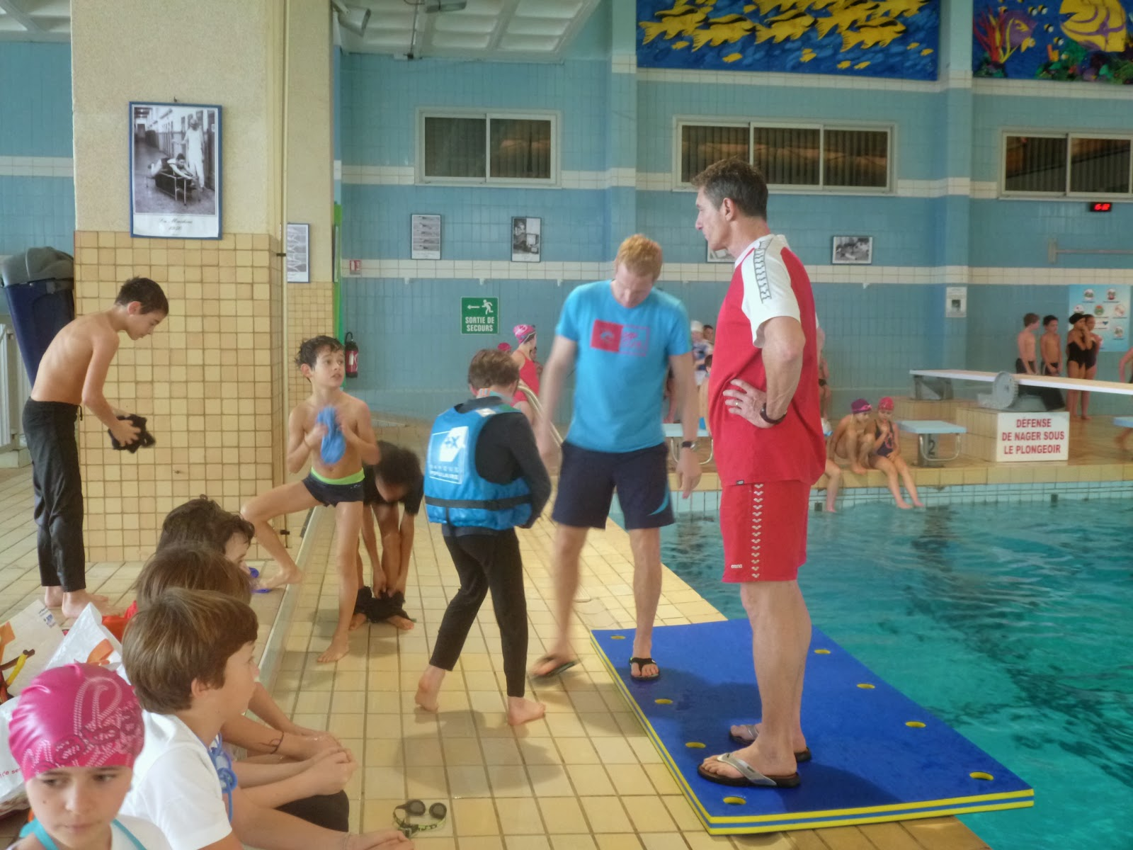 Ecole sainte anne st briac sur mer tests la piscine for Test de piscine